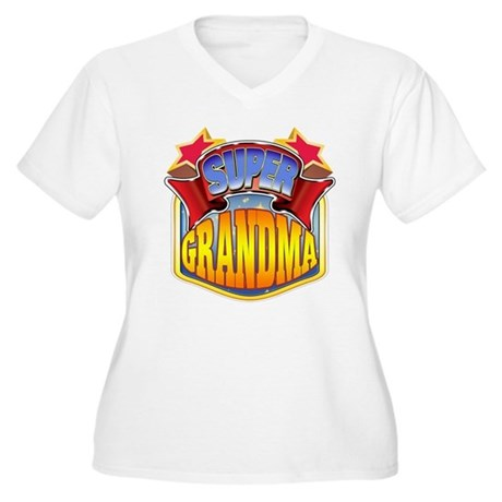 Super Grandma Women's Plus Size V-Neck T-Shirt