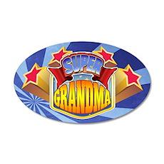 Super Grandma 38.5 x 24.5 Oval Wall Peel