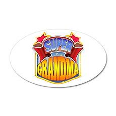 Super Grandma 22x14 Oval Wall Peel