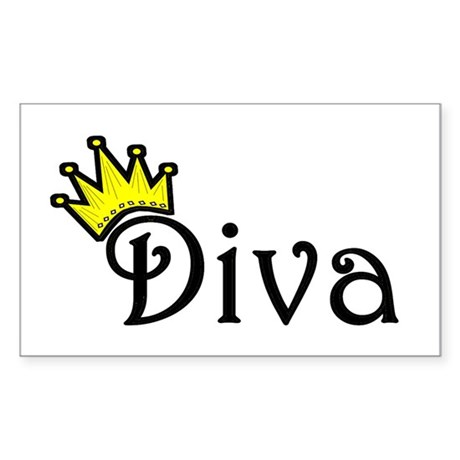 Diva Rectangle Sticker