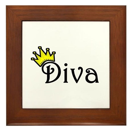 Diva Framed Tile