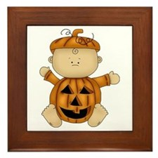 Cute Pumpkin-Baby Framed Tile