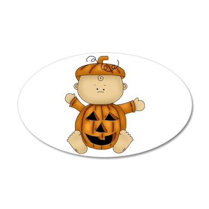 Cute Pumpkin-Baby 38.5 x 24.5 Oval Wall Peel