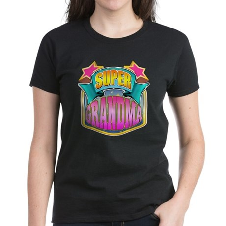 Pink Super Grandma Women's Dark T-Shirt
