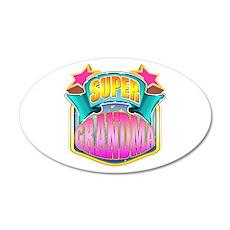 Pink Super Grandma 38.5 x 24.5 Oval Wall Peel