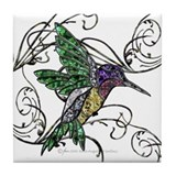 Gem Hummingbird Tile Coaster