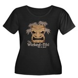 Wicked Tiki Bar Women's Plus Scoop Neck Dark T