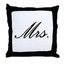 """""""Mrs."""" Throw Pillow"""