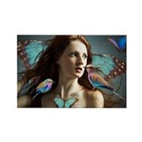 Blue Morpho Fairy Rectangle Magnet
