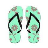 Pink Flower Flip Flops