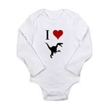I Love Dinosaurs - Velocirapt Long Sleeve Infant B