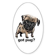 Got Pug Oval Decal