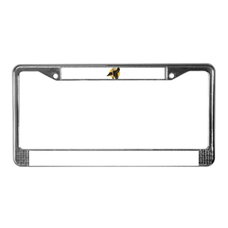angry mallard duck License Plate Frame