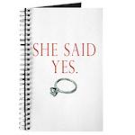 She Said Yes Journal