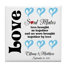 Customizable Soul Mates Tile Coaster