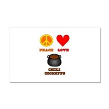 Peace Love Chili Cookoff Car Magnet 20 x 12