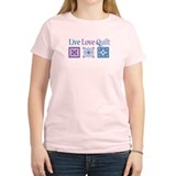 Live Love Quilt T-Shirt