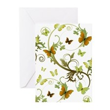 Earthtone Butterflies Greeting Cards (Pk of 20)