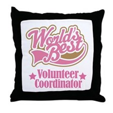 Volunteer Coordinator Gift Throw Pillow