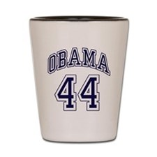 Obama 44th President nvy blu Shot Glass
