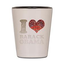 I heart/rising sun Barack Oba Shot Glass