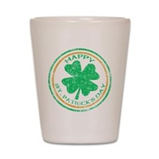 Happy St. Patricks Day Shot Glass