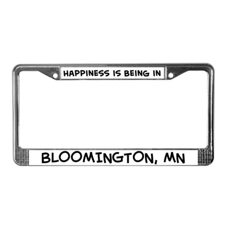 Happiness is Bloomington License Plate Frame