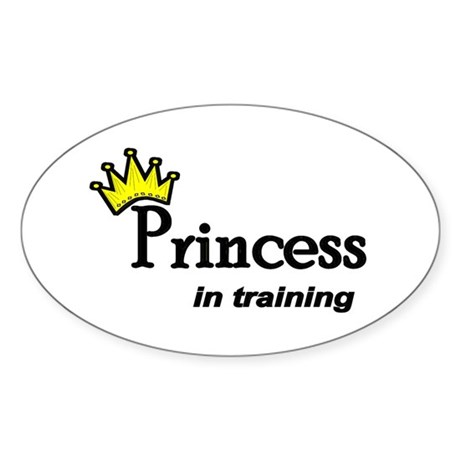 Princess in Training Oval Sticker