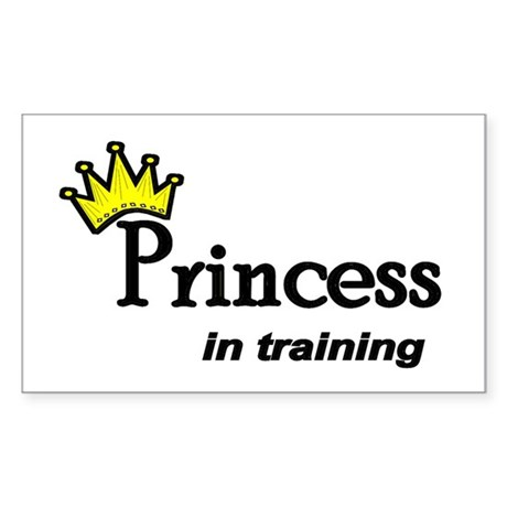 Princess in Training Rectangle Sticker