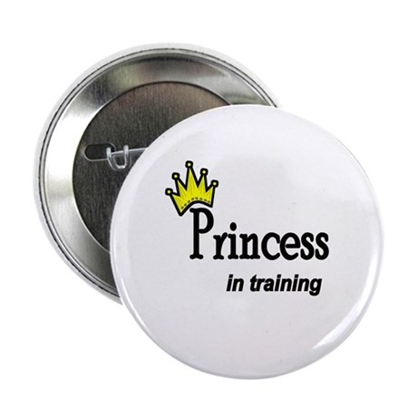 Princess in Training Button