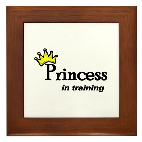 Princess in Training Framed Tile