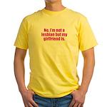 Not a Lesbian Yellow T-Shirt