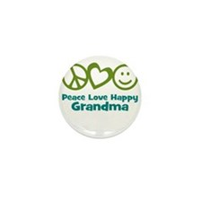 Peace Love Happy Grandma Mini Button (10 pack)
