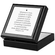 """Philipians 4:8"" Keepsake Box"