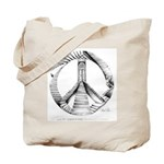 "Week 40 ""52 Weeks of Peace"" Tote Bag"
