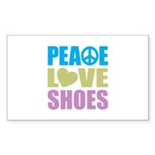 Peace Love Shoes Decal
