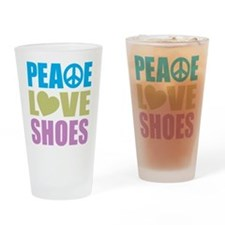 Peace Love Shoes Drinking Glass