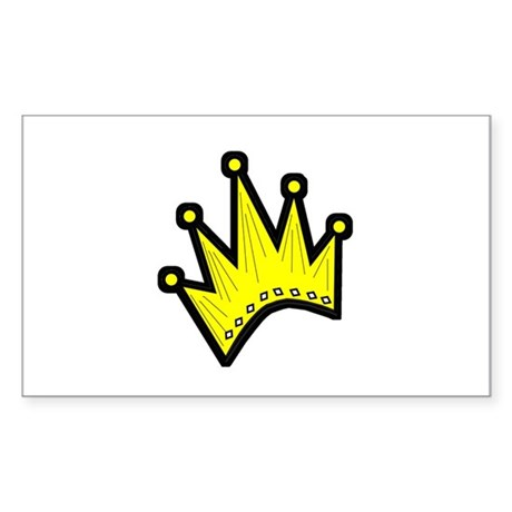 Gold Crown Rectangle Sticker