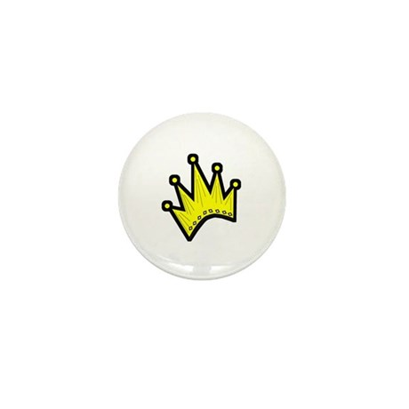 Gold Crown Mini Button