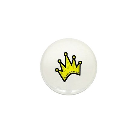 Gold Crown Mini Button (10 pack)