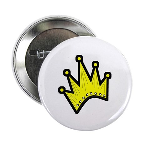 "Gold Crown 2.25"" Button (10 pack)"