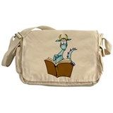 Dragon Reading Book Messenger Bag
