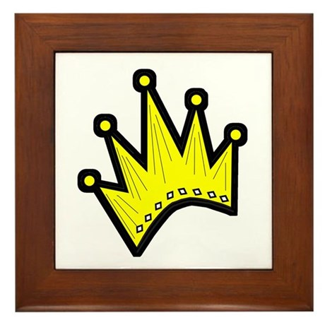 Gold Crown Framed Tile