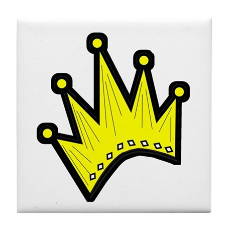 Gold Crown Tile Coaster