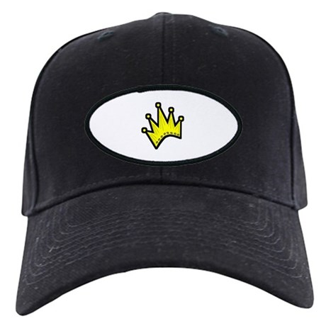 Gold Crown Black Cap