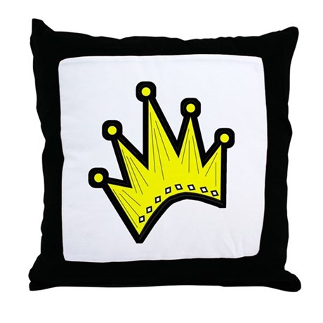 Gold Crown Throw Pillow
