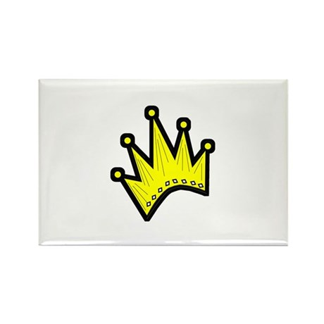 Gold Crown Rectangle Magnet