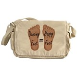 Dancing Feet Are Happy Feet Messenger Bag