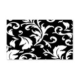 BLACK AND WHITE DAMASK 22x14 Wall Peel
