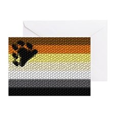 BEAR FLAG_DIMPLED TILE EFFECT Greeting Cards (Pack